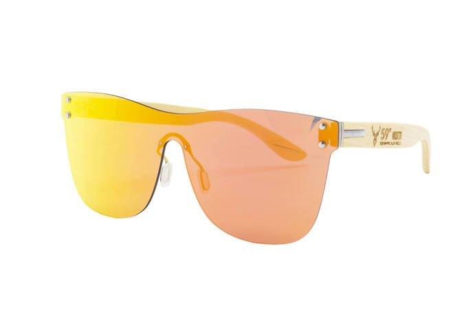 59 North Wheels - Okulary przeciwsłoneczne (Bez oprawek) / Pomarańczowo żółte