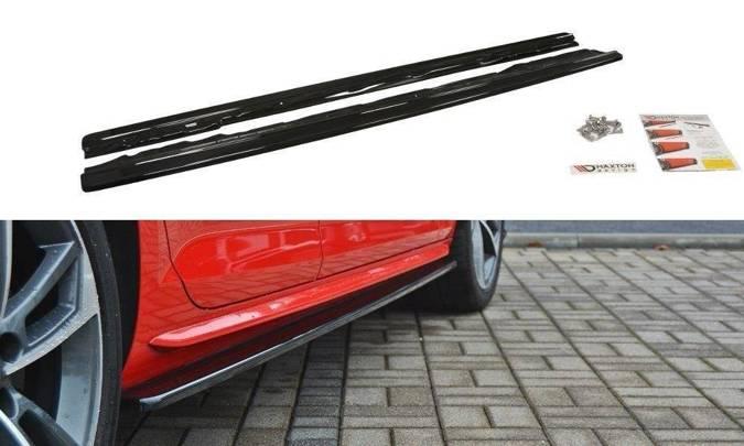 Dokładki progów Maxton Audi S4 / A4 S-Line B9 (carbon look)