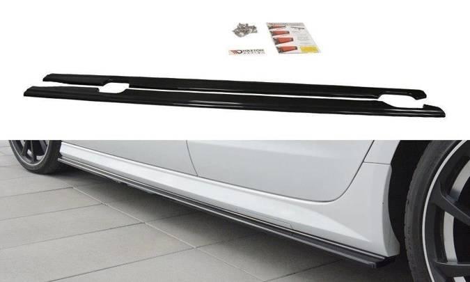 Dokładki progów Maxton Audi S6 / A6 S-Line C7 FL (czarny mat)