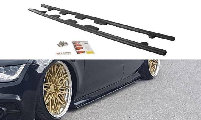 Dokładki progów Maxton Audi S7 / A7 S-Line C7 (czarny mat)