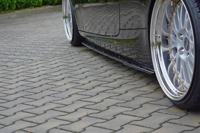 Dokładki progów Maxton BMW 3 E92 M-Pack Polift (czarny połysk)