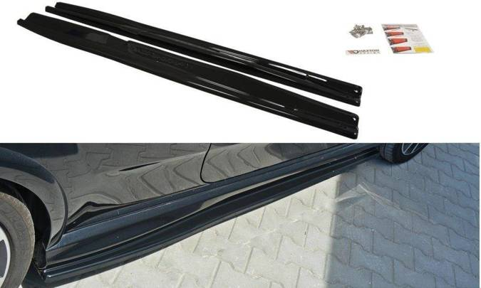 Dokładki progów Maxton Fiat Punto Evo Abarth (czarny połysk)