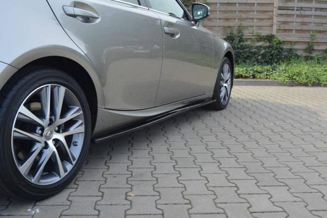 Dokładki progów Maxton Lexus IS MK3/ MK3 Polift (czarny połysk)