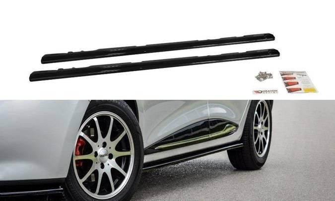 Dokładki progów Maxton Renault Clio MK4 (carbon look)