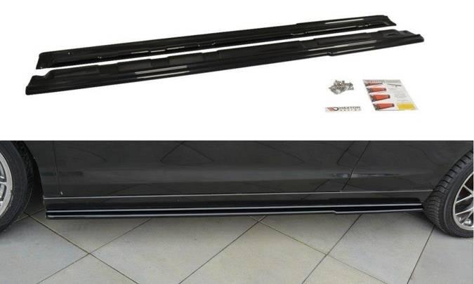 Dokładki progów Maxton Renault Laguna MK 3 Coupe (czarny mat)