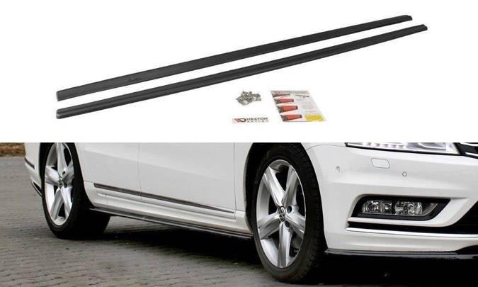 Dokładki progów Maxton Volkswagen Passat B7 R-Line (carbon look)