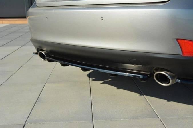 Splitter tylny srodkowy Maxton Lexus IS MK3 T (z dyfuzorem) (carbon look)