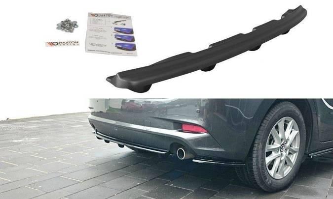 Splitter tylny srodkowy Maxton Mazda 3 BM (MK3) Polift (z dyfuzorem) (czarny mat)