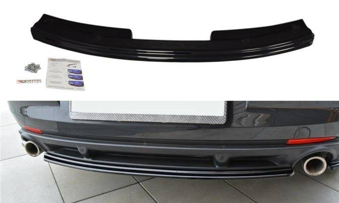 Splitter tylny srodkowy Maxton Renault Laguna MK3 Coupe (czarny połysk)